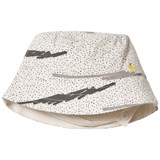 The Bonnie Mob Grey Scribble Waves Print Reversible Sun Hat