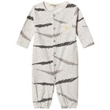 The Bonnie Mob Grey Scribble Waves Print Jumpsuit