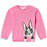 The Bonnie Mob Pink Surf Dog Sweater