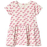 The Bonnie Mob Pink Teeny Waves Print Terry Dress