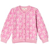 The Bonnie Mob Pink Palm Tree Lightweight Jacquard Cardigan