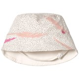The Bonnie Mob Pink Scribble Waves Print Reversible Sun hat