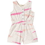 The Bonnie Mob Pink Scribble Waves Print Playsuit