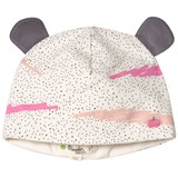 The Bonnie Mob Pink Scribble Waves Print Hat with Ears