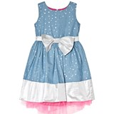 Holly Hastie Blue and Silver Bow Florance Stars Dress