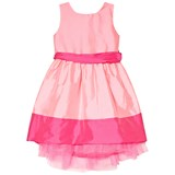 Holly Hastie Pink Florance Butterfly Bow Taffeta Dress