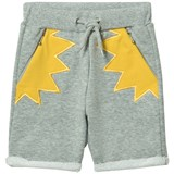 RaspberryPlum Grey and Yellow Ornette Shorts