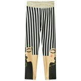 RaspberryPlum Black and White Stripe Missie Leggings