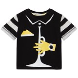 RaspberryPlum Black Trumpet Player T-Shirt