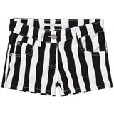 RaspberryPlum Black and White Stripe Miranda Shorts