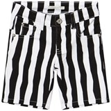 RaspberryPlum Black and White Duke Shorts