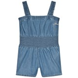 Guess Blue Chambray Playsuit with Bow Detail