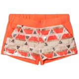 Billieblush Coral and Gold Sequin Shorts