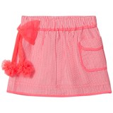 Billieblush Pink Stripe Skirt with Tulle Bow