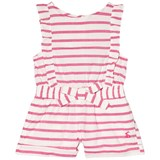 Joules Pink Stripe Jersey Frill Playsuit