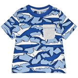 Joules Blue Shark and Stripe Printed Jersey Tee