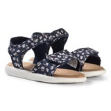 Toms Navy Daisy Print Strappy Velcro Sandals
