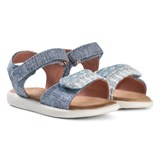 Toms Blue Chambray Strappy Velcro Sandals