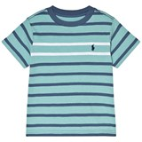 Ralph Lauren Green and Navy Multi Stripe Tee