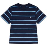 Ralph Lauren Navy Stripe Short Sleeve CN Tops Tee