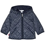 Ralph Lauren Navy Spot Quilted Jacket