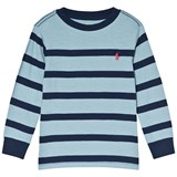 Ralph Lauren Blue and Navy Stripe Long Sleeve Tee