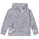 eBBe Kids Rebus sweat jkt Maps allover grey
