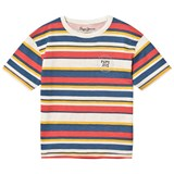 Pepe Jeans Multicoloured Stripe Saul Branded T-Shirt