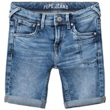 Pepe Jeans Blue Pilot Slim Fit Washed Stretch Denim Shorts