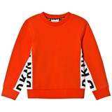 DKNY Orange Side Branded Sweater