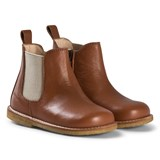 Angulus Chestnut Brown Zip Chelsea Boots