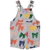 Stella McCartney Kids Gery Bow Print Pookie Sweat Dungarees