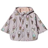 Stella McCartney Kids Grey Ice Cream Froggie Water Repellent Cape