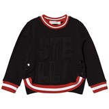 Stella McCartney Kids Black Stella Mesh Sweatshirt