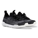 AKID Black and White Mesh Knit Trainers