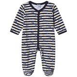 Absorba White and Navy Spot Babygrow