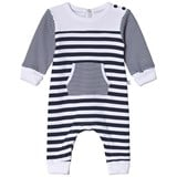 Absorba Navy and White Footless Babygrow