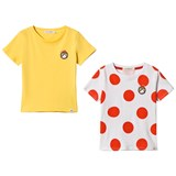 Billybandit Yellow and White Red Dots Short Sleeve Jersey T-Shirt Pack