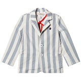 Billybandit Blue and White Stripe Twill Suit Jacket