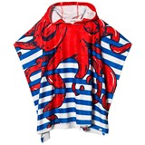 Billybandit Blue and White Stripe Octopus Hood Bath Towel