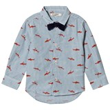 Billybandit Grey And Orange Small Sharks and Bow Tie Shirt