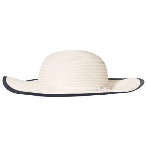 fb8d446c121 Chloé Off White Contrasted Edge Straw Ceremony Hat
