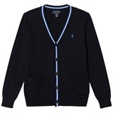 Ralph Lauren Navy And Blue Cotton Cardigan with Small Pony