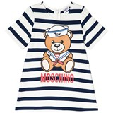 Moschino Navy and White Sailor Bear Print Knit Dress