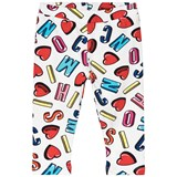 Moschino White All Over Branded Leggings