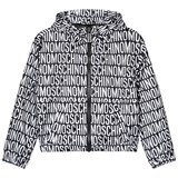 Moschino Black Branded and Bear Print Unisex Windbreaker