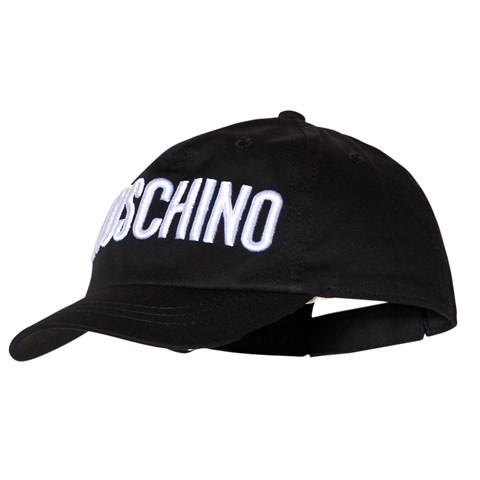 Moschino Black Embroidered Branded Cap  b137d22e1414