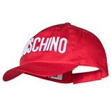 Moschino Red Embroidered Branded Cap