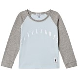 Civiliants Baby Blue And Grey Raglan Long Sleeve T-Shirt