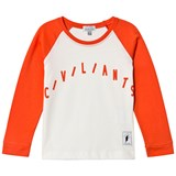 Civiliants Red And White Long Sleeve T-Shirt